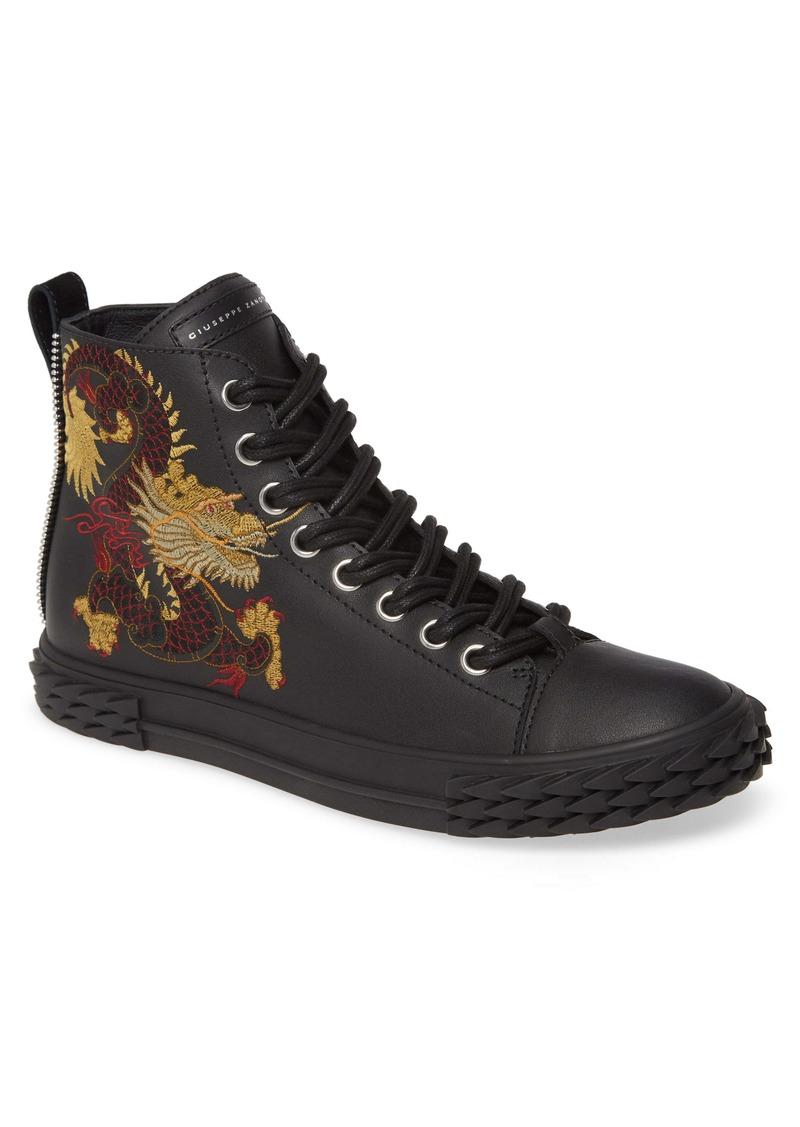Giuseppe Zanotti Embroidered Dragon Sneaker (Men)