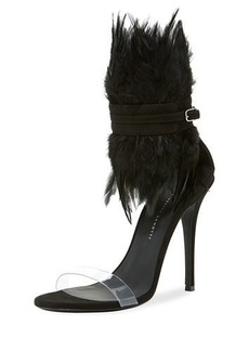 Giuseppe Zanotti Feather High Red Sole Sandals