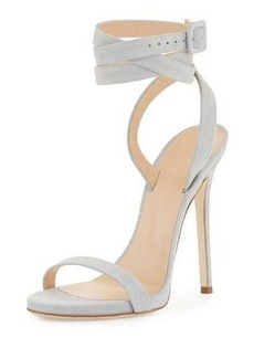Giuseppe Zanotti for Jennifer Lopez Alien Suede Ankle-Wrap 120mm Sandal