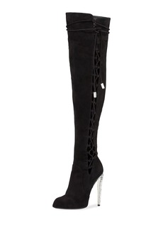Giuseppe Zanotti for Jennifer Lopez Frida Suede 120mm Over-The-Knee Boot