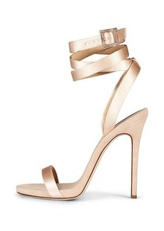 Giuseppe Zanotti for Jennifer Lopez Leslie Satin Ankle-Wrap 120mm Sandal