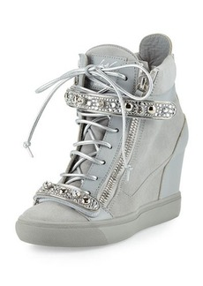 Giuseppe Zanotti for Jennifer Lopez Tiana Crystal High-Top Wedge Sneaker