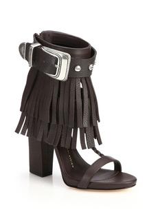 Giuseppe Zanotti Fringed Leather Sandals