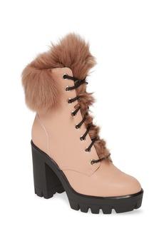 Giuseppe Zanotti Genuine Shearling Platform Boot (Women)