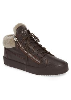Giuseppe Zanotti Genuine Shearling Sneaker (Men)