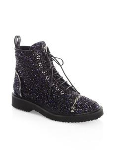 Giuseppe Zanotti Glitter Combat Boots