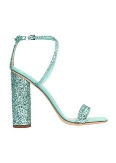 Giuseppe Zanotti Green Glitter Tara Sandals