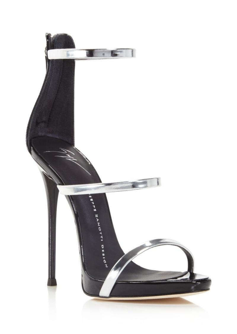 99b608cc8 Giuseppe Zanotti Harmony Metallic Triple Strap High Heel Sandals - 100%  Exclusive
