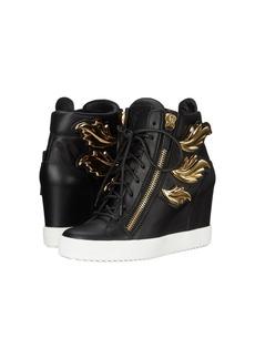Giuseppe Zanotti Hi-Top Wedge Winged Sneaker