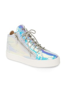 Giuseppe Zanotti Iridescent High Top Sneaker (Women)