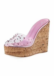 Giuseppe Zanotti Jeweled Cork Platform Slide Sandal