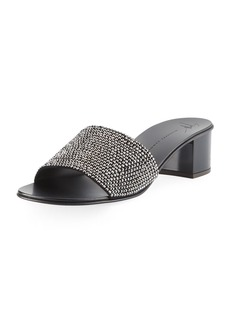 Giuseppe Zanotti Jeweled Single-Band Slide Sandal