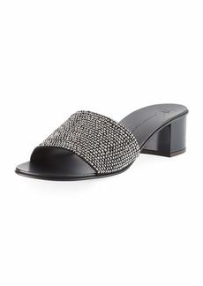 Jeweled Single-Band Slide Sandal