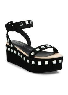Giuseppe Zanotti Jeweled Suede Platform Ankle-Strap Sandals
