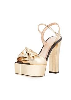 Giuseppe Zanotti Knotted Metallic Platform Sandal