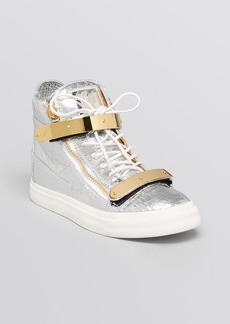 Giuseppe Zanotti Lace Up High Top Sneakers - May London