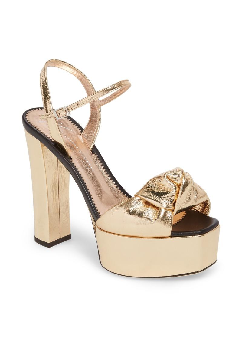 Giuseppe Zanotti Multistrap Knot Sandals visa payment cheap price W3sWAL