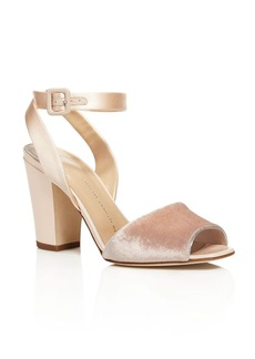 Giuseppe Zanotti Lavinia Mixed Media High Heel Sandals