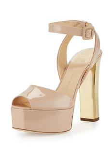 Lavinia Patent Platform Sandal