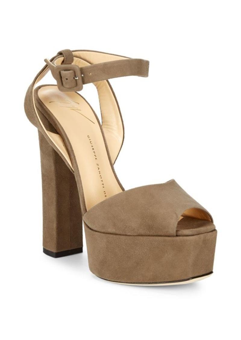a5d747bb7dd3 Giuseppe Zanotti Lavinia Platform Suede Sandals