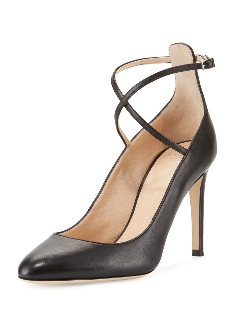 Giuseppe Zanotti Leather Ankle-Strap 90mm Pump