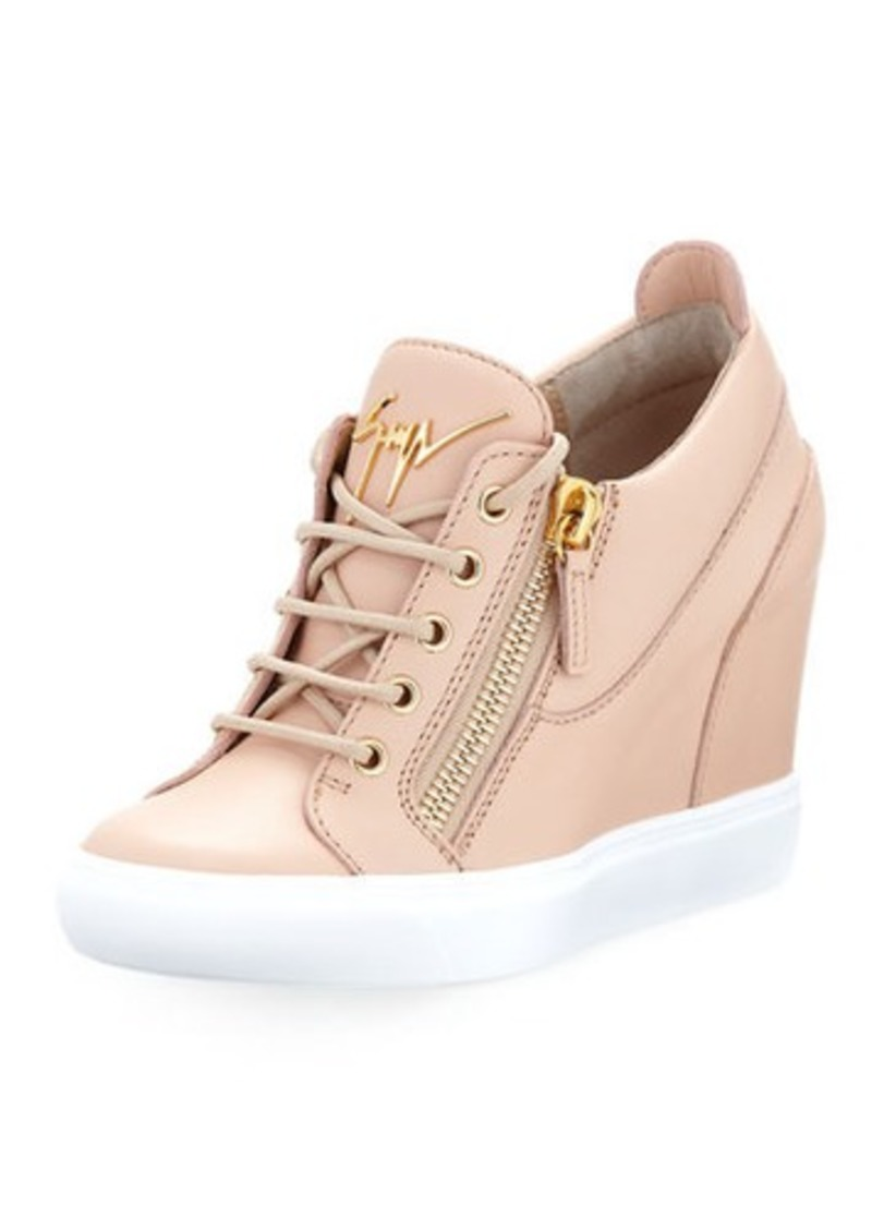 95905688eae8f Giuseppe Zanotti Giuseppe Zanotti Leather Low-Top Wedge Sneaker | Shoes
