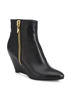 Giuseppe Zanotti Leather Wedge Booties