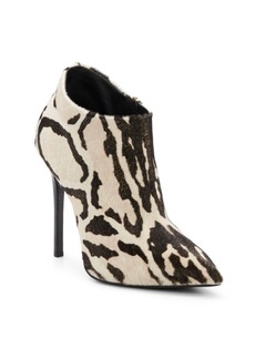 Giuseppe Zanotti Metallic Animal-Print Calf Hair Booties