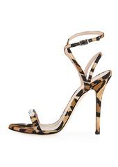 Giuseppe Zanotti Leopard-Print Grosgrain Sandal