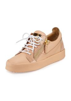 Giuseppe Zanotti London Leather Side-Zip Sneaker