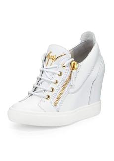 Giuseppe Zanotti Lorenz Zip-Front Wedge Sneaker