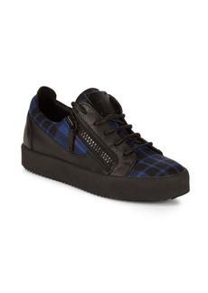 Giuseppe Zanotti Low-Top Plaid Sneakers