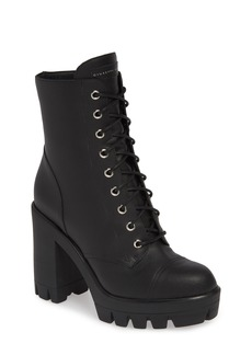 Giuseppe Zanotti Lugged Block Heel Bootie (Women)