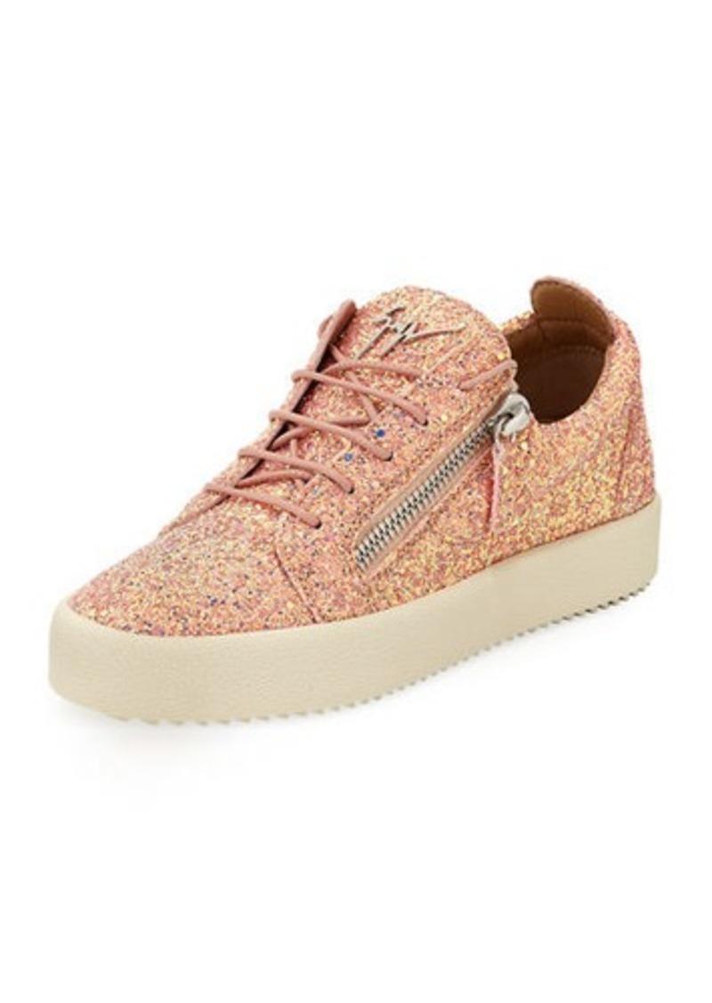 Giuseppe Zanotti May Coarse Glitter Platform Sneaker