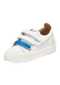 Two-Tone Grip-Strap Sneaker
