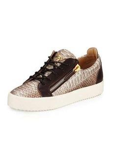 Giuseppe Zanotti Maylondon Snake-Embossed Side-Zip Sneaker