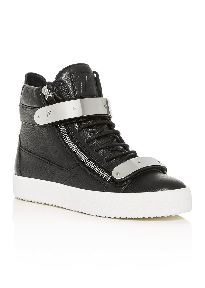 Giuseppe Zanotti Men's High-Top Double Bar Sneakers