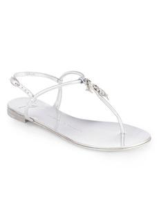 Giuseppe Zanotti Metallic Leather Fish-Detail Thong Sandals