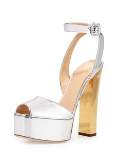 Giuseppe Zanotti Metallic Leather High-Heel Sandal