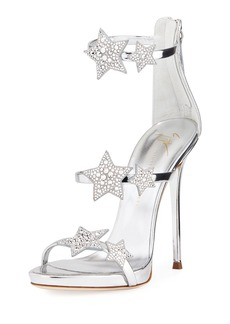 Giuseppe Zanotti Metallic Leather Star Sandal