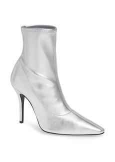 Giuseppe Zanotti Metallic Pointy Toe Bootie (Women)