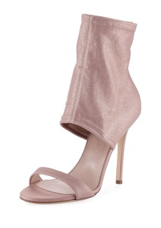 Giuseppe Zanotti Metallic Stretch-Canvas Bootie