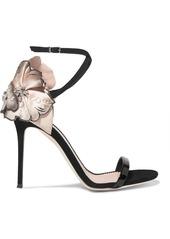 Giuseppe Zanotti Mistico floral-appliquéd suede sandals