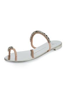 Giuseppe Zanotti Nuvorock Crystal Slide Sandal