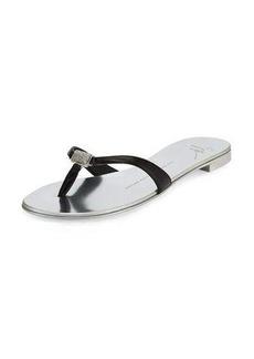 Giuseppe Zanotti Nuvorock Crystal Thong Sandal