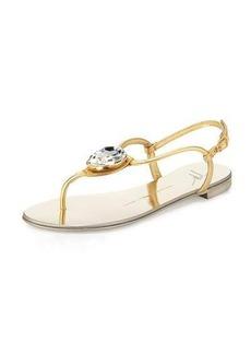 Giuseppe Zanotti Nuvorock Jeweled T-Strap Sandal
