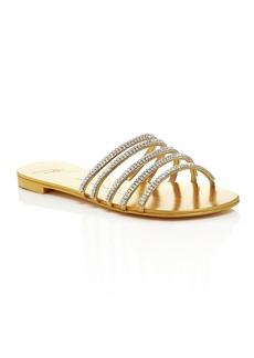 Giuseppe Zanotti Nuvoroll Swarovski Crystal Strappy Slide Sandals