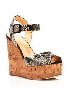 Giuseppe Zanotti Open Toe Platform Wedge Sandals - Roz