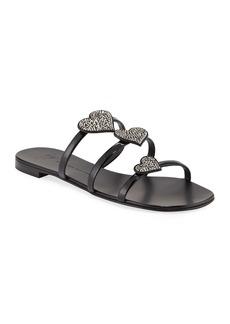 Giuseppe Zanotti Patent Heart-Embellished Sandals