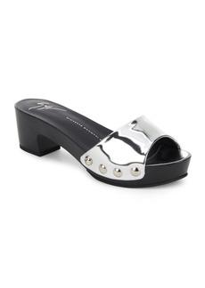 Giuseppe Zanotti Peep-Toe Block-Heel Slide Sandals